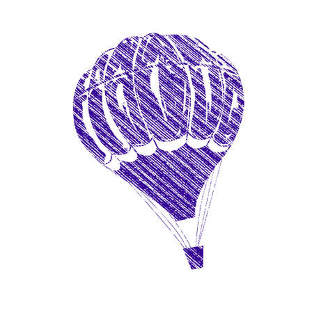 hot balloon icon in a white background