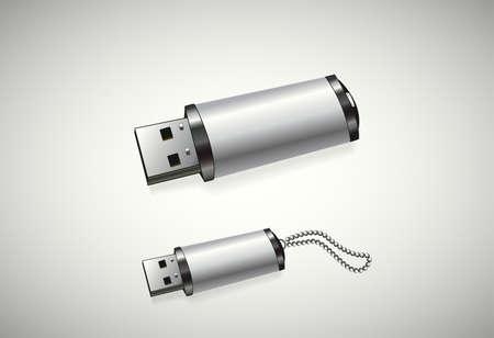 Twee USB-schijven op een witte achtergrond Stockfoto - 34570935