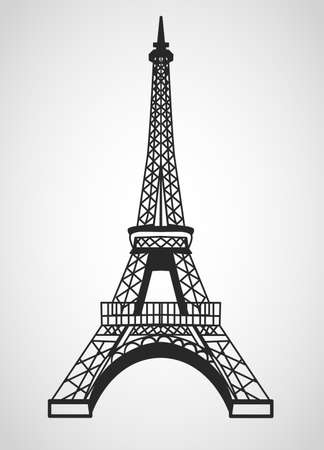 eifel: Eiffel tower is isolated on a white background