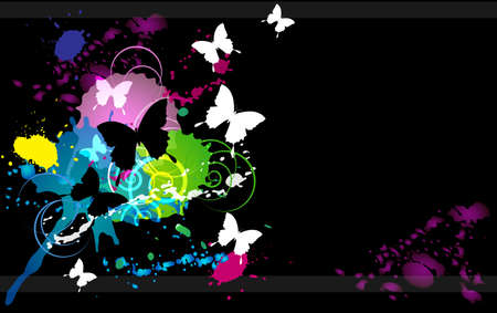 inkblot: an inkblot white butterfly business card black