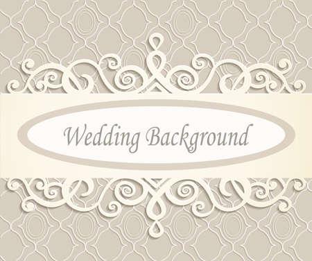 room bruiloft achtergrond met een retro patroon in beige