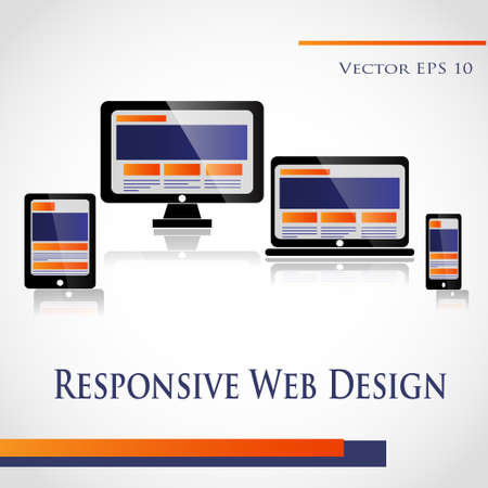 flexible business: Responsive Web Design on a white background