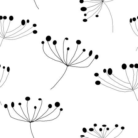Floral seamless pattern handdrawing. Vector illustration. Ilustrace