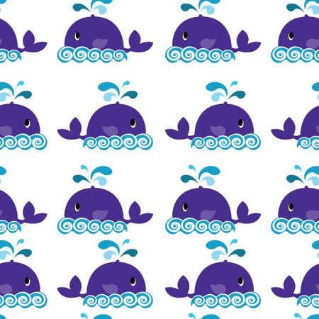 wieloryb szwu na białym tle