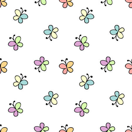 childlike: seamless childlike pattern. vector illustration in white