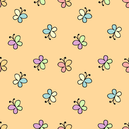 cute wallpaper: seamless childlike pattern. vector illustration in yellow