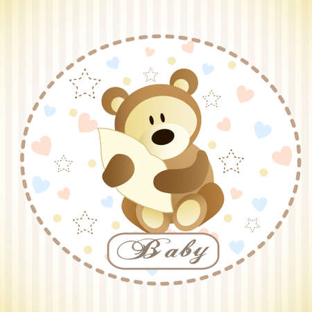 hiding: Vector of cute brown bear hiding by blanketon white background