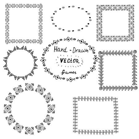 サークル ポリネシアの入れ墨の白い背景の上のフレームのスタイルの設定します。