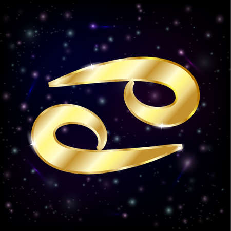 Or le cancer Signe astrologique Banque d'images - 43900149