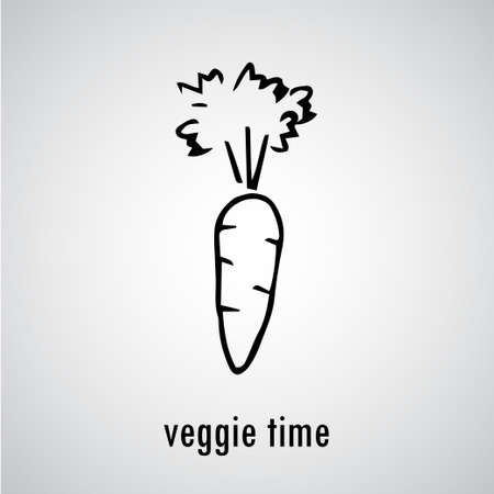 zanahorias: dibujado a mano de zanahoria ecol�gica vegetal org�nico ilustraci�n del estilo del bosquejo Fondo del alimento.