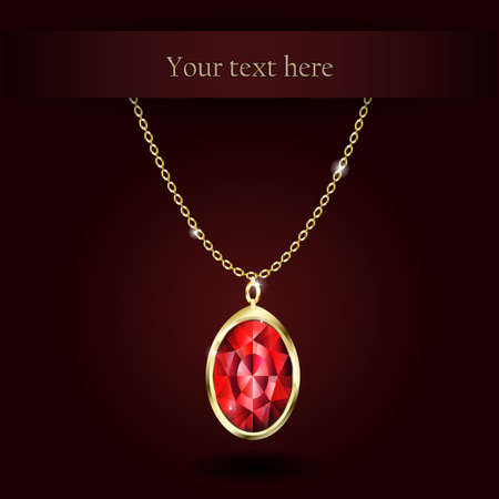 ruby gemstone: Beautiful gemstone red ruby Red diamond Vector illustration.