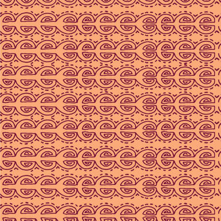Vector seamless pink  ethnic pattern hand drawn