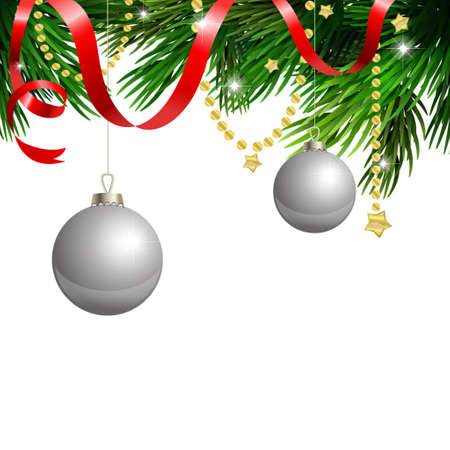volume discount: Cristmas clipart on white background with red ribbon Illustration