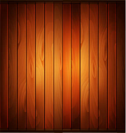 Vector wood plank background in warm colors Illustration