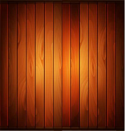 Vector wood plank background in warm colors Ilustração