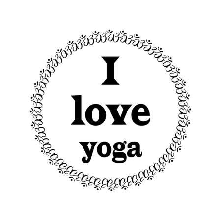 symbol sport: Design-Elemente in Gliederungsstil oder Logo-Vorlagen für Spa-Center oder Yoga-Studio Illustration