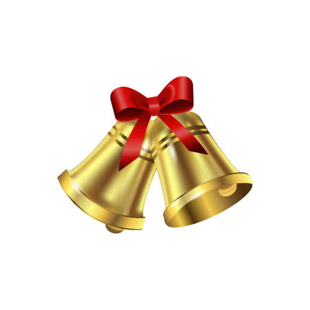 jingle bells: Jingle bells with red bow on a white background. Vector illustration