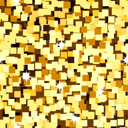 gold sparkle glitter seamless background on light big Illustration