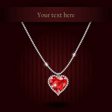 gemstone: Beautiful gemstone red ruby heart Red diamond