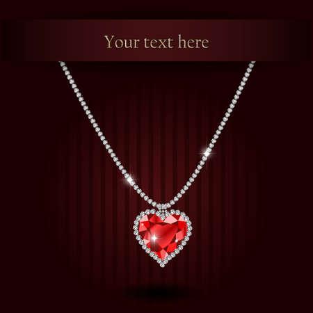 Beautiful gemstone red ruby heart Red diamond