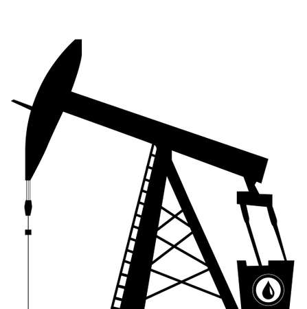 barrell: oil pump jack icon in black silhouette