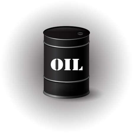 metal barrel: Vector illustration of black metal oil barrel on white background