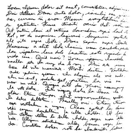 hand writing: Hand drawn writing black on white background