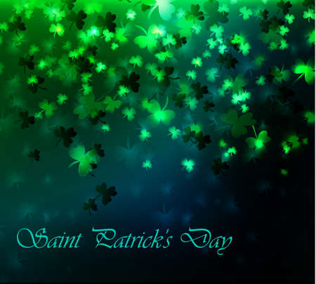 seventeenth: Illustration of saint Patricks day seventeenth march green