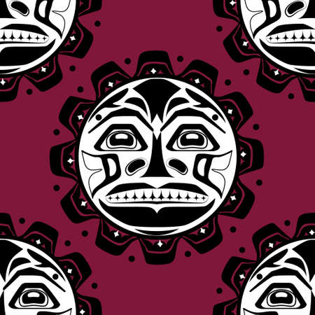 tlingit: Vector illustration of the sun symbol. Illustration