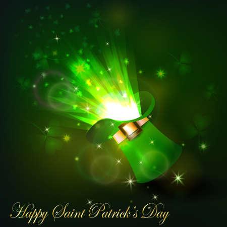 patrik: Green firework in leprechaun hat for Saint Patrics Day
