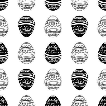 흑백 부활절 달걀 원활한