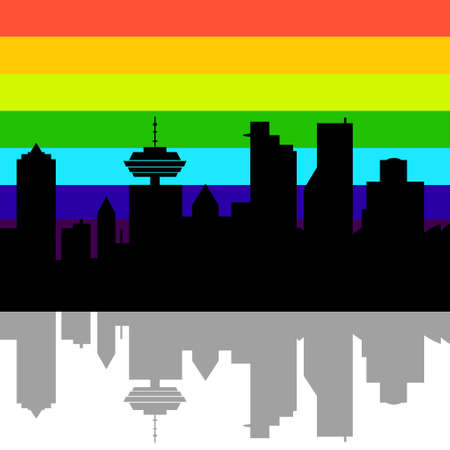 vancouver city: Vancouver, Canada skyline. Detailed vector silhouette on white Illustration