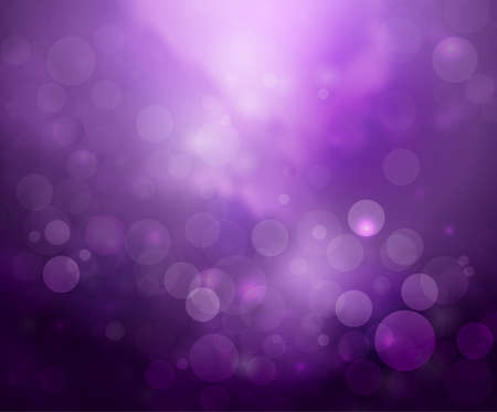 Purple lights background fantasy bokeh on white Vectores