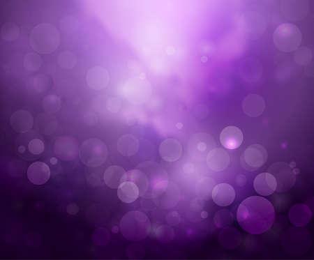 estrellas moradas: luces de bokeh fondo púrpura de la fantasía en blanco Vectores