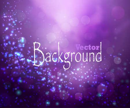 Purple lights background fantasy bokeh on white Vettoriali