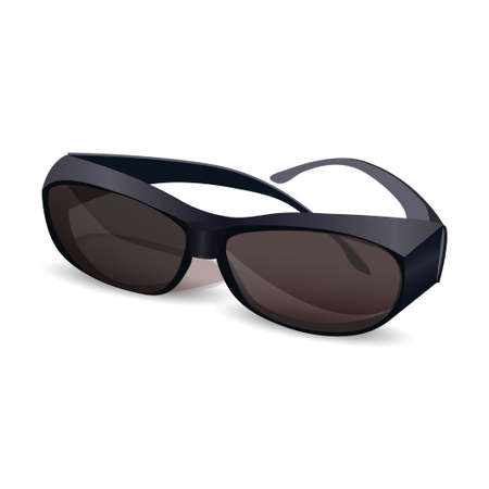 sunglasses isolated: Sunglasses isolated vector illustration on white background Illustration