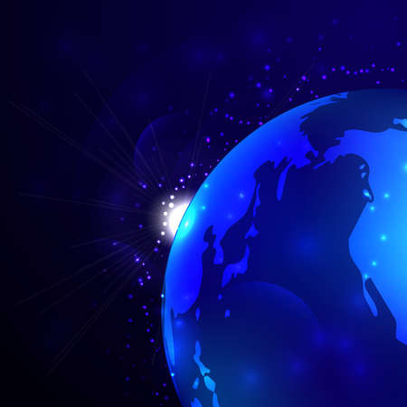 earth from space: Earth Space Background on dark blue