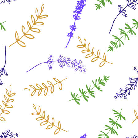 grass weave: Lavender. Seamless pattern  on the white background. Hand-drawn original background