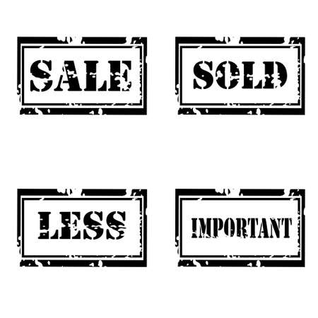occupant: For sale grunge  stamp set on white background Illustration