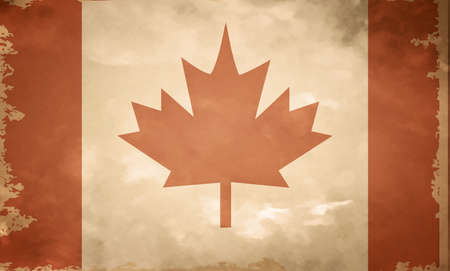 canadian flag: Canadian grunge flag. A canadian flag with a texture. Old Illustration