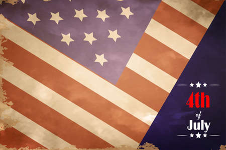 flagged: grunge flag of USA in color vector illustration 4th of July Illustration