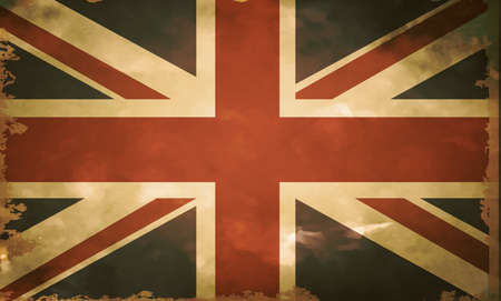 festival scales: British flag grange old style in vintage colors