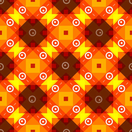 Simple yellow brown red background with rombs Vector Illustration Illustration