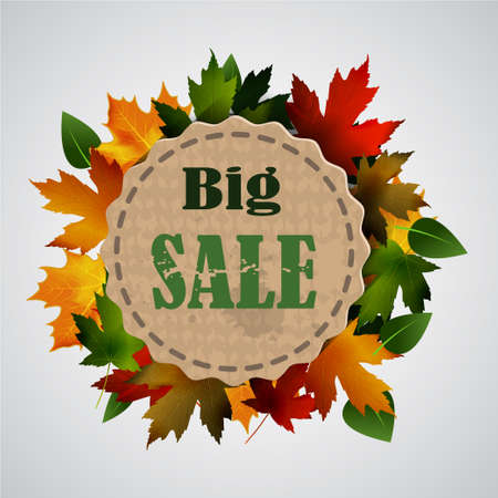 Maple leaf frame for seasonal sales on tag