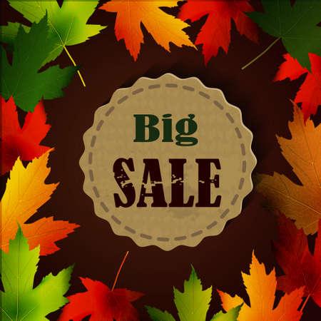 seasonal: Maple leaf frame for seasonal sales on tag