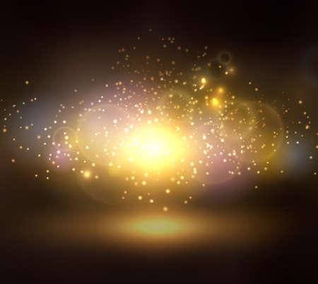 Abstract brawn background on Big Bang theme Ilustração