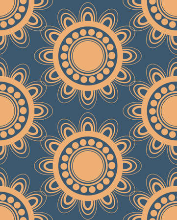 oldened: Seamless pattern in peach and blue colors perfect for gift papers and fabrics