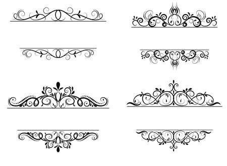 swirl: Vintage vector swirl frame set on white Illustration