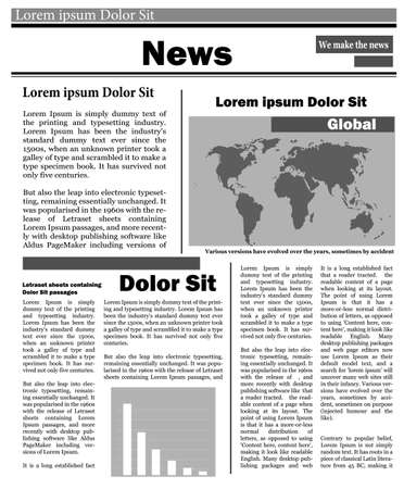 Newspaper news flat image background news vector.