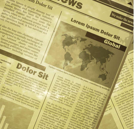 Newspaper news flat image background news vector. Old vintage style could be used for your design